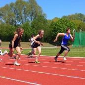 von rechts nach links. Pia Nietfeld 12,06sek, Silvana Metzger 12,40sek, Elisabeth Clemens 11,33sek